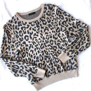 J.Crew Merino Wool Leopard Sweater